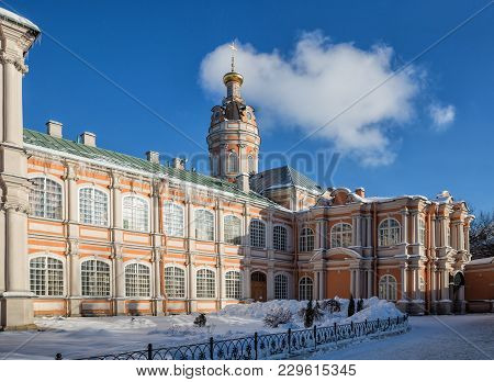 Church Of Theodore And Feodorovsky Building In The Alexander Nevsky Lavra, St. Petersburg, Russia