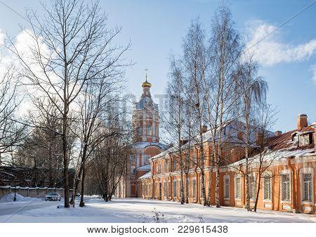 Alexander Nevsky Lavra,  Winter Sunny Day