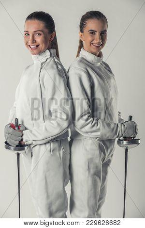 Beautiful Female Fencers