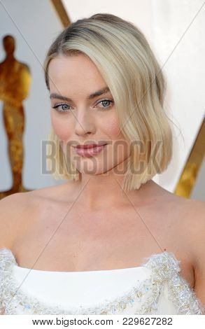 Margot Robbie at the 90th Annual Academy Awards held at the Dolby Theatre in Hollywood, USA on March 4, 2018.