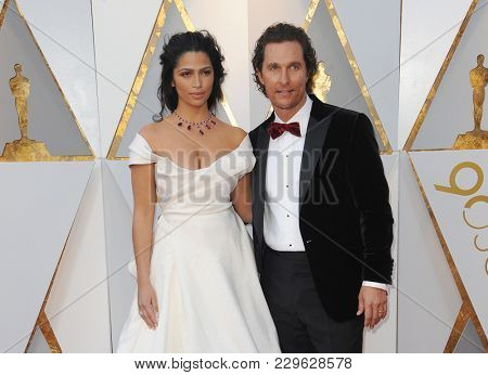 Camila Alves and Matthew McConaughey at the 90th Annual Academy Awards held at the Dolby Theatre in Hollywood, USA on March 4, 2018.