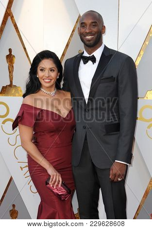Kobe Bryant and Vanessa Laine Bryant at the 90th Annual Academy Awards held at the Dolby Theatre in Hollywood, USA on March 4, 2018.