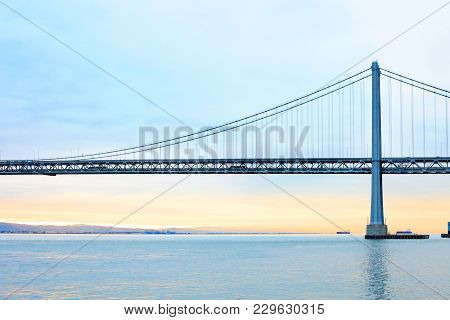 Bay Bridge Over San Francisco Bay, San Francisco, California, Usa
