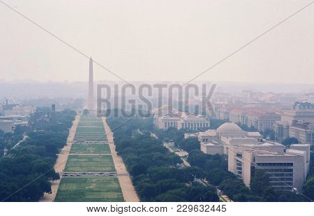 Washington Monument, The National Mall, National Gallery Of Art And The Smithsonian National Museum