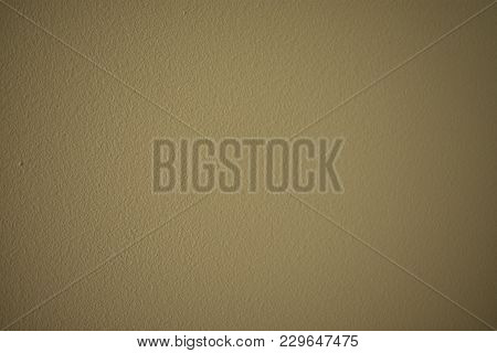 Fine Granular Painted Stucco Wall In Nice Shade Of Beige, Useful As Background