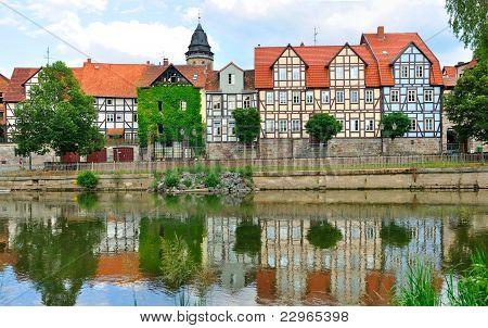 Idyllic city Hann Munden in Germany