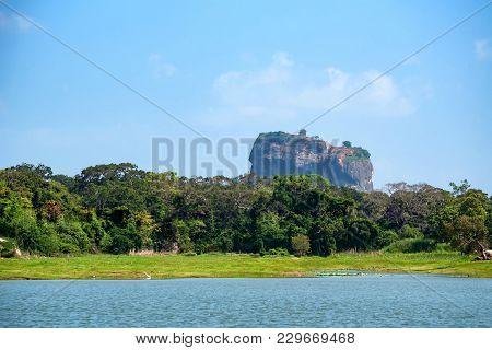 Beautiful View Of Sigiriya Rock Or Lion Rock Is An Ancient Fortress Near Dambulla, Sri Lanka