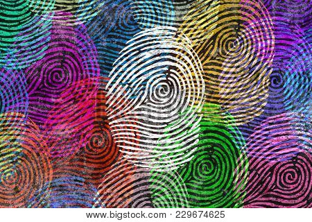 Diversity Identity And Privacy Concept And Personal Private Data Symbol As Diverse Finger Prints Or