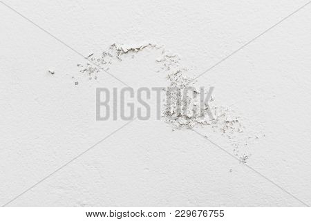 Moisture damaged white wall texture