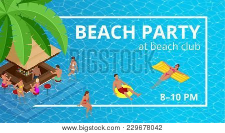 Banner Or Flyer For Summer Beach Party. Aloha Summer. Vector Illustration. Invitation To Nightclub.