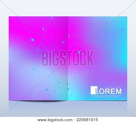 Modern Vector Template For Brochure Leaflet Flyer Advert Cover Catalog Magazine Or Annual Report.. A