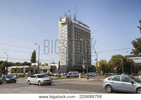 Timisoara, Romania - September 08, 2017:  View Of Continental Hotel Located In Central Zone On Septe