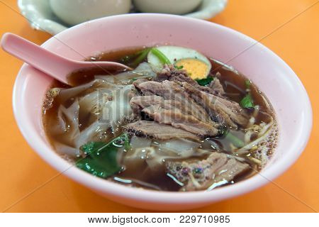 Thai Style Stewed Duck Meat Noodle Soup