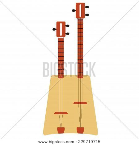 Isolated Dual Guitar Icon. Musical Instrument. Vector Illustration Design