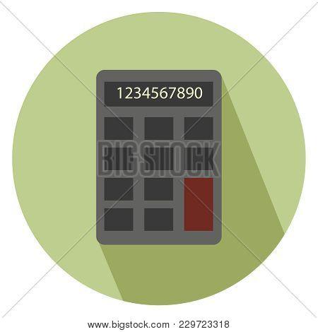 Calculator Icon Isolated Over White Background. Simple Element Illustration. Calculator Symbol Desig