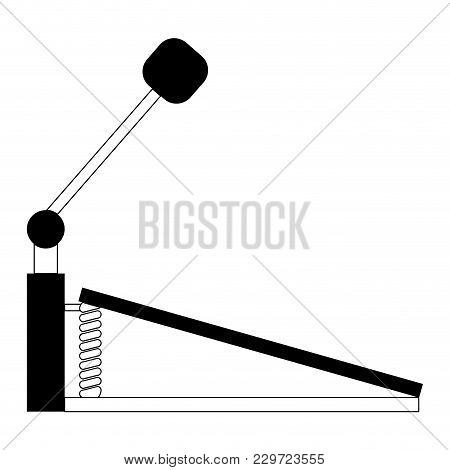 Isolated Pedal Icon. Musical Instrument. Vector Illustration Design