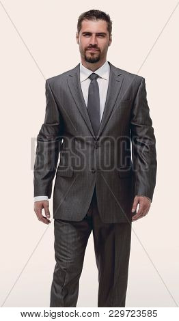 in full growth.confident businessman