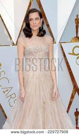 Allison Williams at the 90th Annual Academy Awards held at the Dolby Theatre in Hollywood, USA on March 4, 2018.