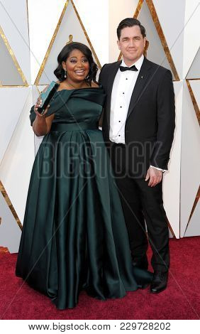 Octavia Spencer and Tate Taylor at the 90th Annual Academy Awards held at the Dolby Theatre in Hollywood, USA on March 4, 2018.