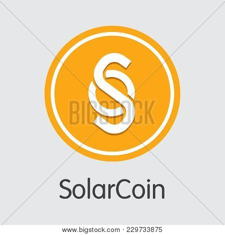 Cryptographic Currency Solarcoin. Net Banking And Slr Mining Vector Concept. Blockchain Cryptocurren