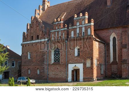 Side Facade Of The Church Of St. Great Martyr George The Victorious In Pravdinsk (prior Friedland),