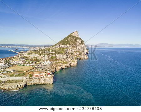 Famous Gibraltar Is An Oversea British Territory Bordering Sapin, Iberian Peninsula