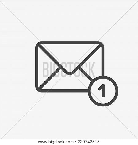 Mail Envelope Vector Icon. New Message, Address, Inbox, Post Letter Sign. Email Communication Newsle