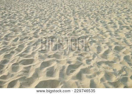 Random Pattern Of Sand Surface At The Beach