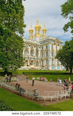 Pushkin.russia.june.23.2016.catherine Park.the Grand Catherine Palace Is The Residence Of The Empres
