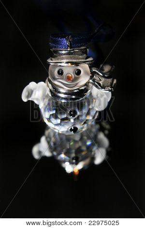crystal xmas snowman