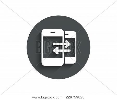 Phone Communication Simple Icon. Incoming And Outgoing Call Sign. Conversation Or Sms Symbol. Circle