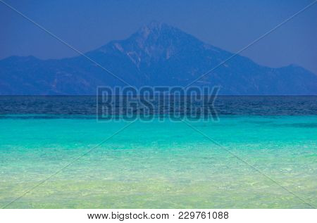 Clear water on sea shore