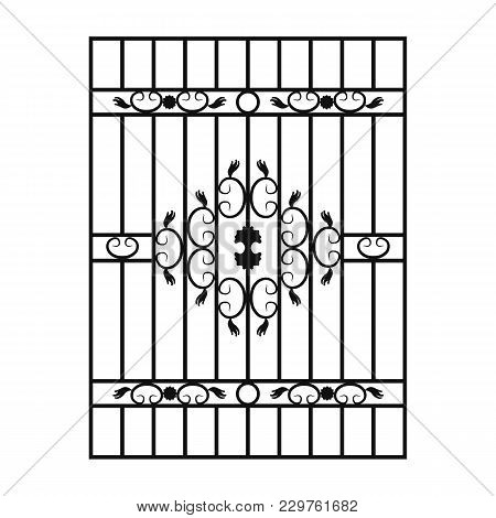 Window Simple Black Lattice. Vector Ilustration Eps 10