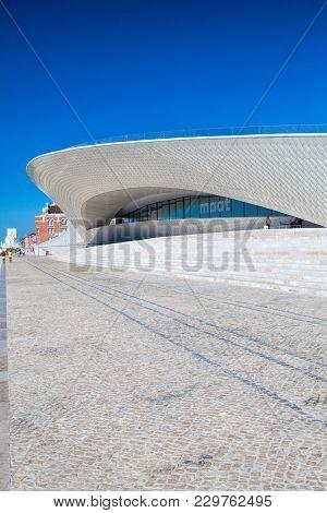 Lisbon, Portugal - September 13 . 2017 . Maat (museu De Arte, Arquitetura E Tecnologia) Building  In
