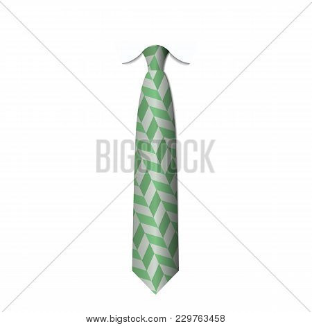Green Ties Isolated On White Background Vector