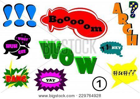 Comic Book. Comics Illustration.picture Stickers.illustration For Comic Book On Motives Wonder, Joy,