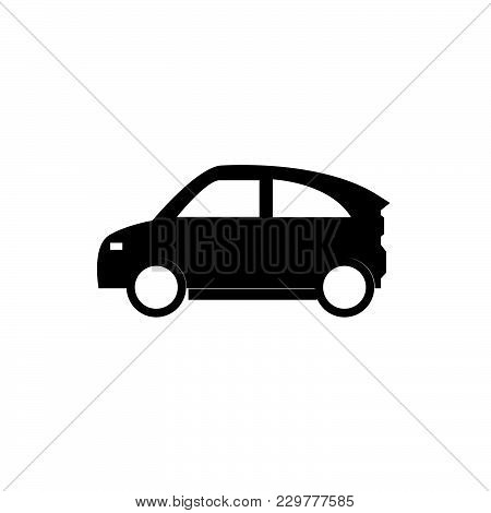 Eco Car Icon Isolated On White Background. Eco Car Energy Icon Modern Symbol For Graphic And Web Des