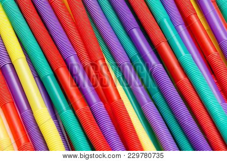 Bright Colour Drinking Straws For Party Background