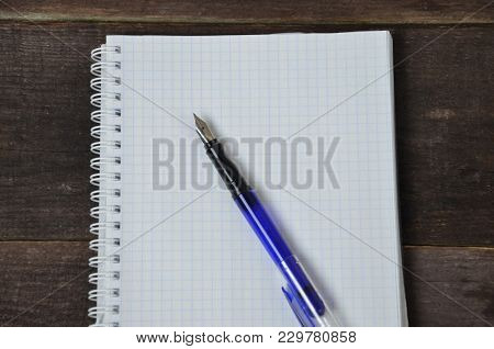 Notebook Pen On The Table, Education, Exercise, Book Paper Student