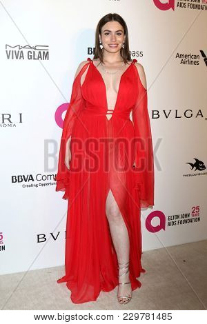 LOS ANGELES - MAR 4:  Sophie SImmons at the 2018 Elton John AIDS Foundation Oscar Viewing Party at the West Hollywood Park on March 4, 2018 in West Hollywood, CA