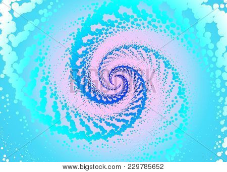 Vector Illustration Of Dinamic Spiral With Radial Rays, Twisted Comic Effect, . Hypnotic Spiral