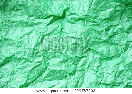 Green Paper Toss Texture As Empty Background