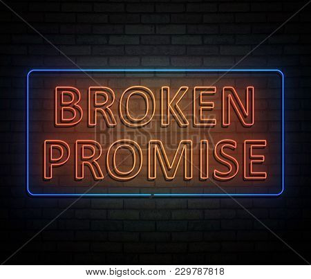 Broken Promise Concept.