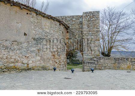 Arab Door Of The Defensive Wall Of Medinaceli, Province Of Soria Spain.