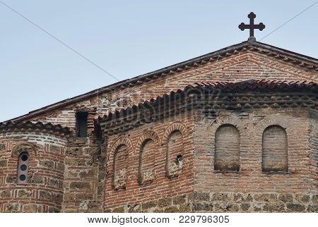 Detail Of Old Orthodox Church Saint Sophia In Ohrid
