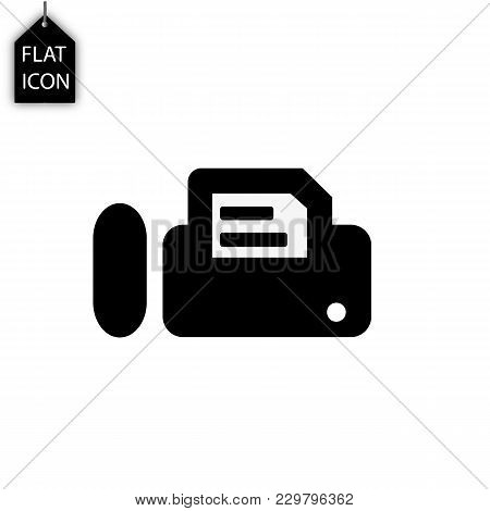 Printer Fax Icon Isolated On White Background. Modern Flat Pictogram, Business, Marketing, Internet