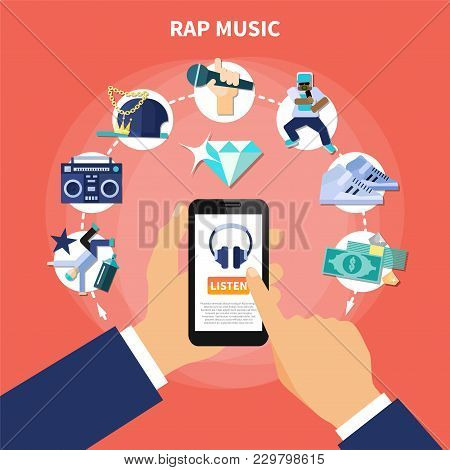 Rap Music Listening Vector & Photo (Free Trial) | Bigstock