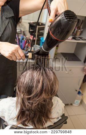 Hair Dryer Hair Dryer In A Beauty Salon .