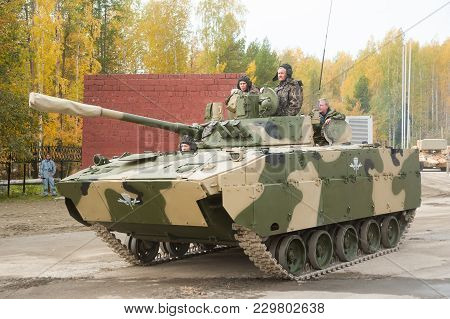 Nizhniy Tagil, Russia - September 25. 2013: Airborne Tracked Armoured Personnel Carrier Bmd-4m With