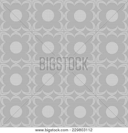 Geometric Abstract Wallpaper. Symmetric Digital Paper, Textile Print. Asian, Ethnic, Geometrical Sea